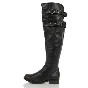 Shoes - Size 5.5 Black Faux Leather Over the Knee Boot